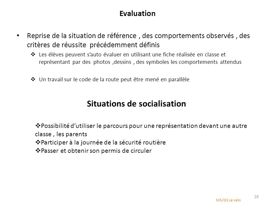 Situations de socialisation