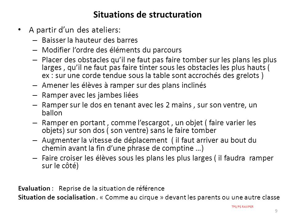 Situations de structuration