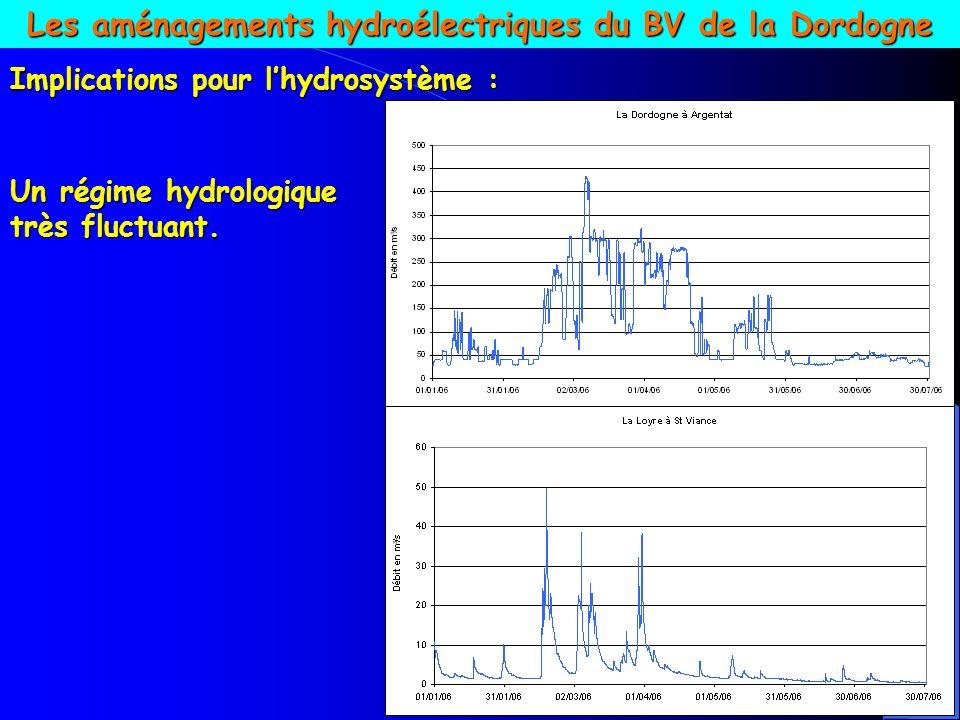 Les aménagements hydroélectriques du BV de la Dordogne