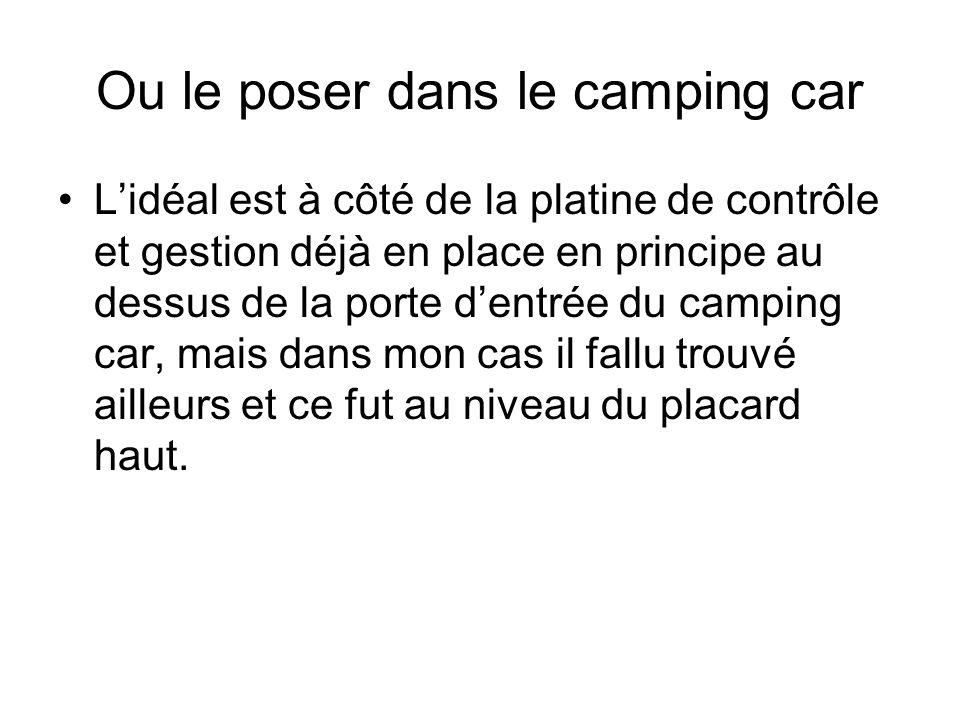 Ou le poser dans le camping car