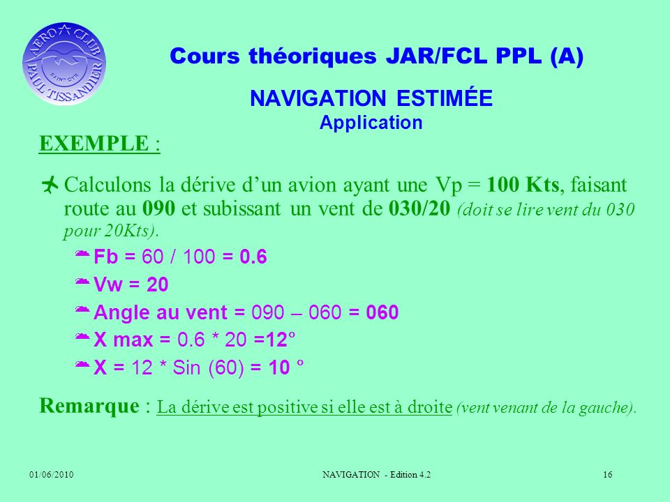 NAVIGATION ESTIMÉE Application