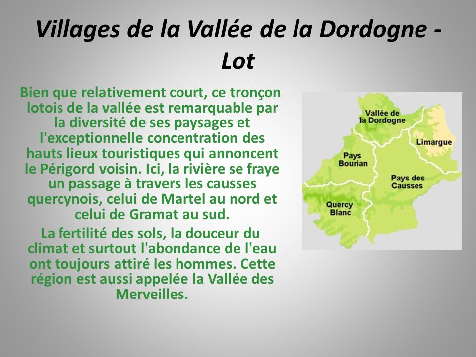 Villages de la Vallée de la Dordogne - Lot