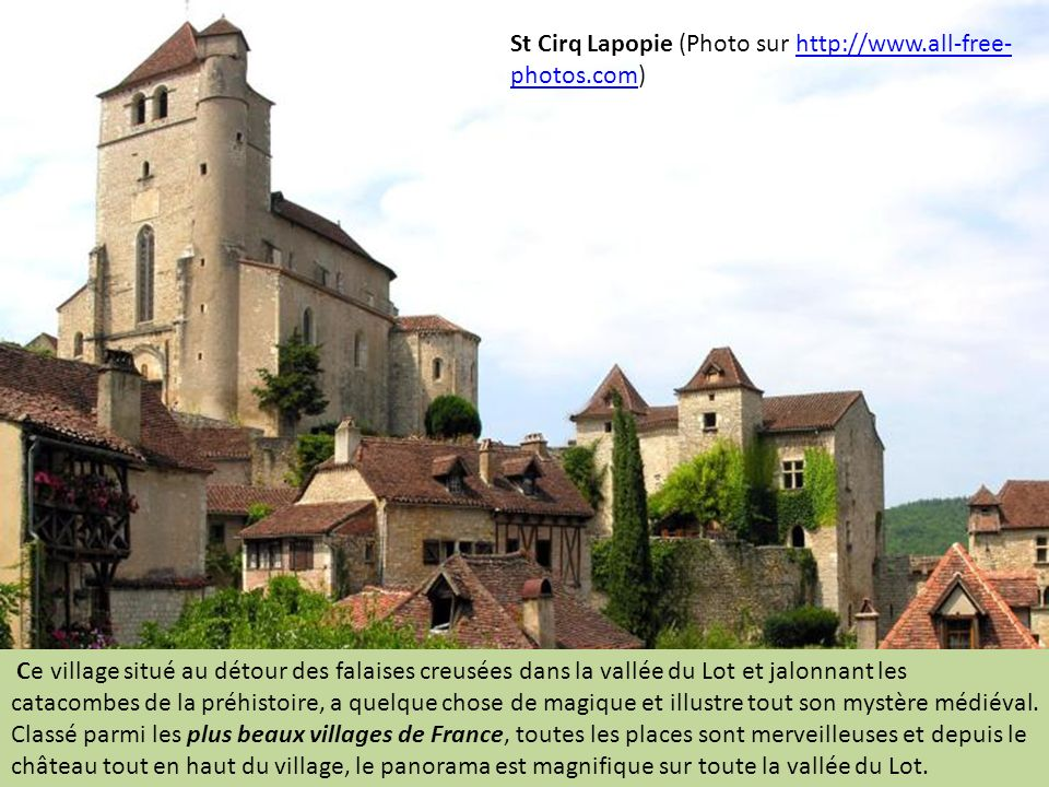 St Cirq Lapopie (Photo sur http://www.all-free-photos.com)
