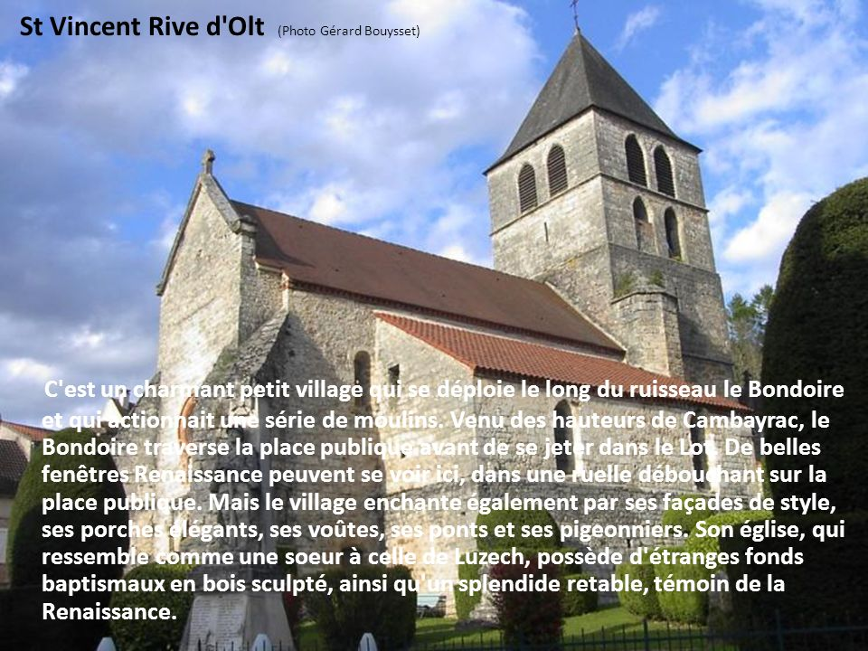 St Vincent Rive d Olt (Photo Gérard Bouysset)