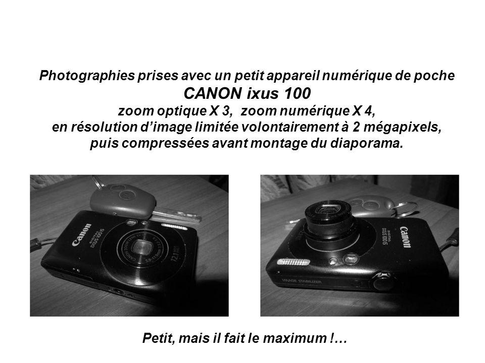 Photographies prises avec un petit appareil numérique de poche