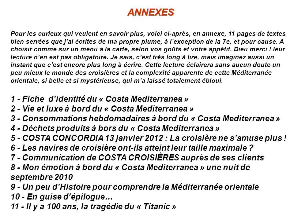 ANNEXES 1 - Fiche d'identité du « Costa Mediterranea »