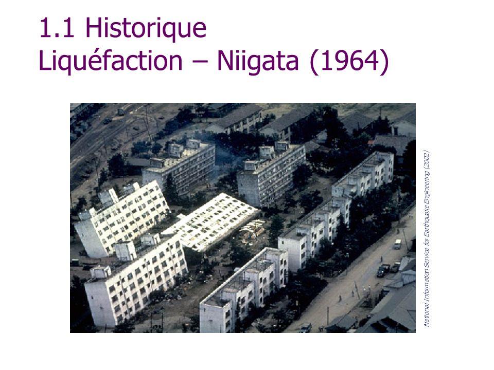 1.1 Historique Liquéfaction – Niigata (1964)