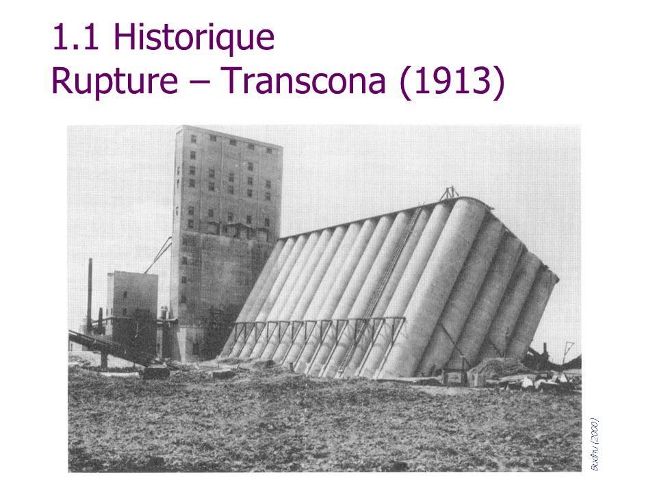 1.1 Historique Rupture – Transcona (1913)