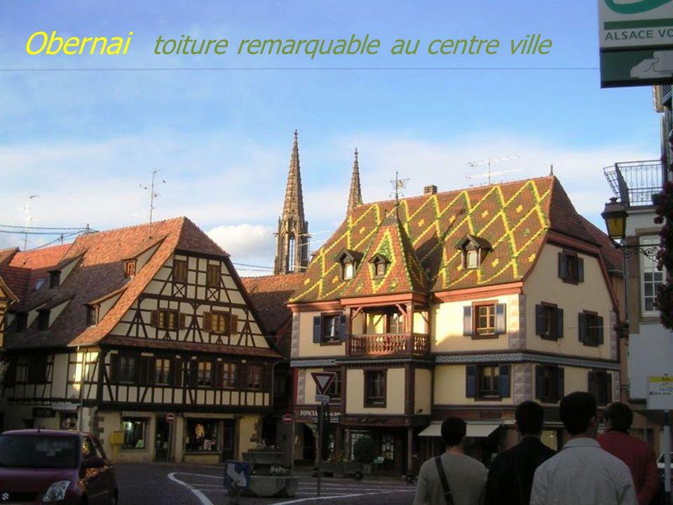 Obernai toiture remarquable au centre ville