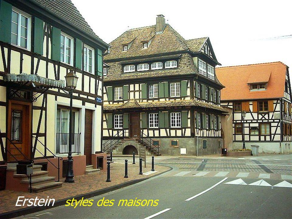 Erstein styles des maisons