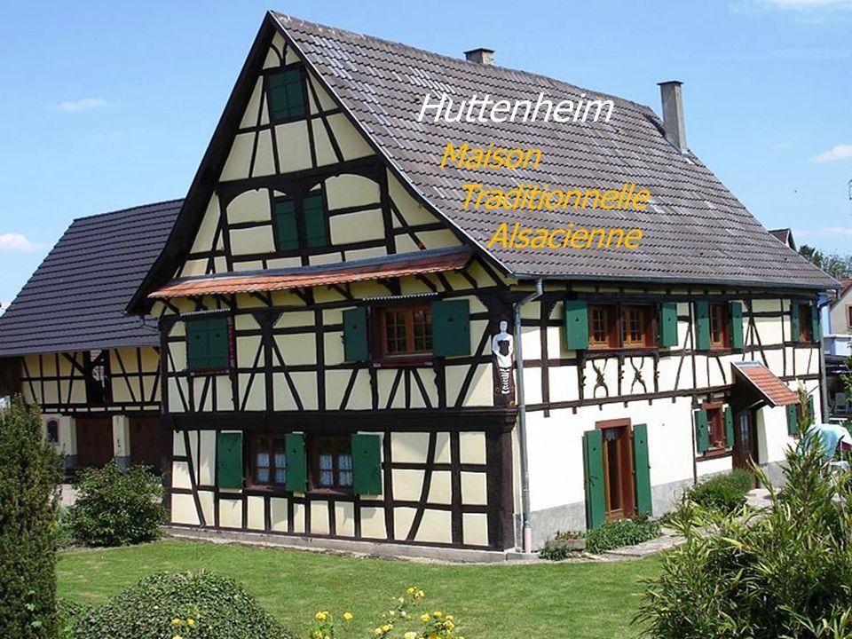 Huttenheim . Maison . Traditionnelle . Alsacienne