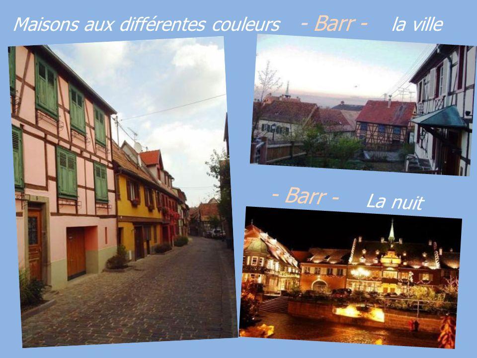 Maisons aux différentes couleurs - Barr - la ville