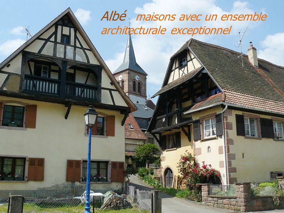 Albé maisons avec un ensemble architecturale exceptionnel