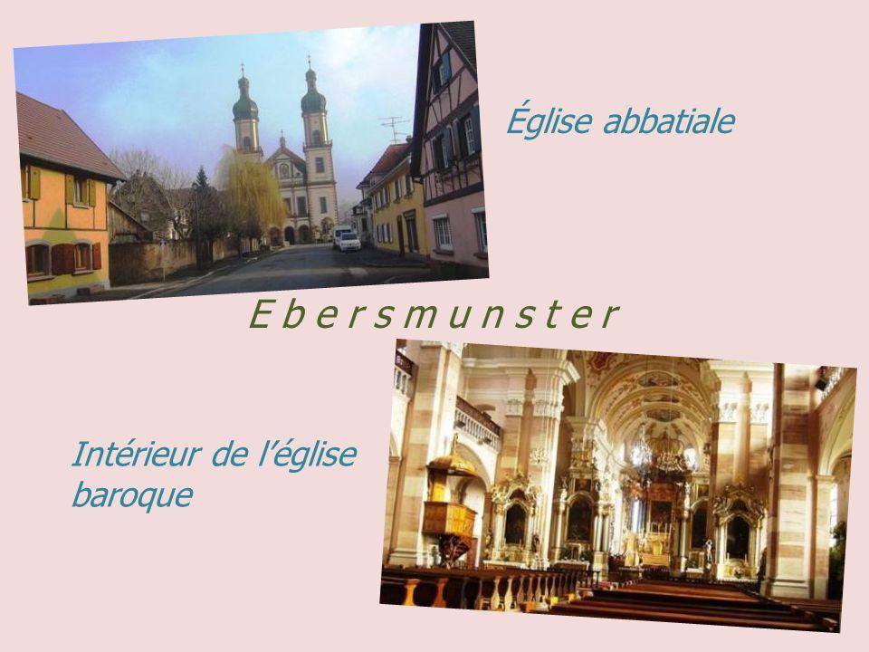 Église abbatiale E b e r s m u n s t e r Intérieur de l'église baroque