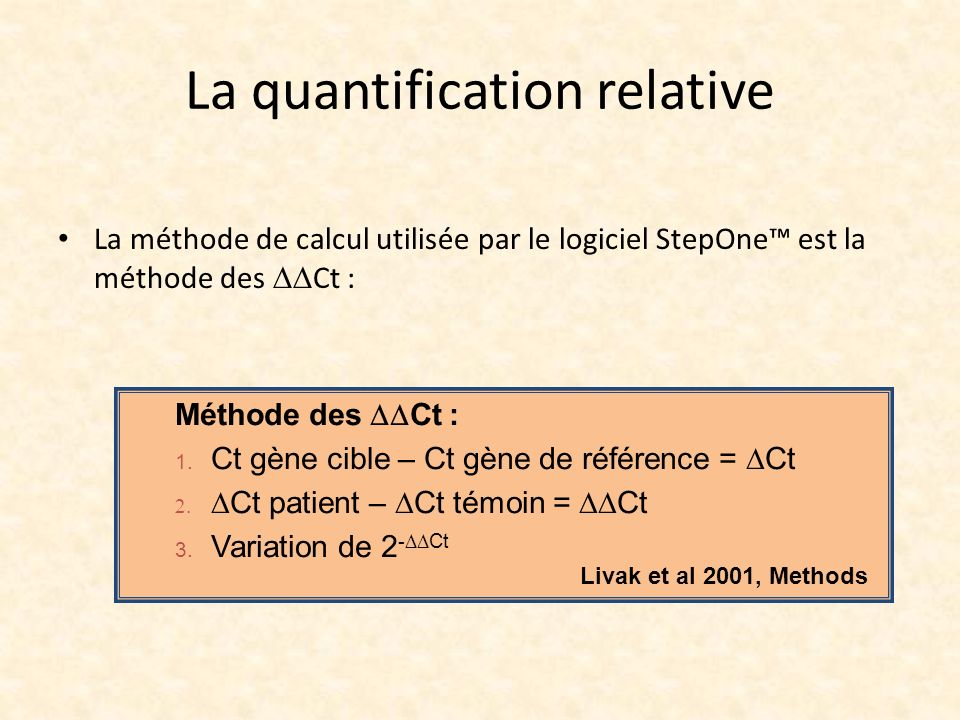 La quantification relative