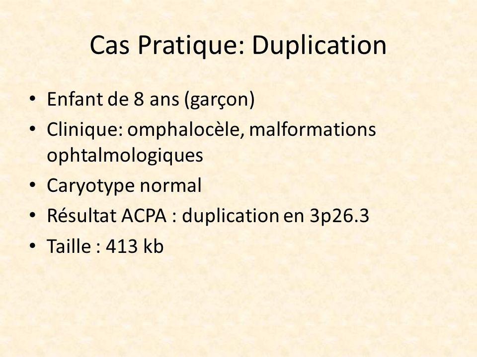 Cas Pratique: Duplication