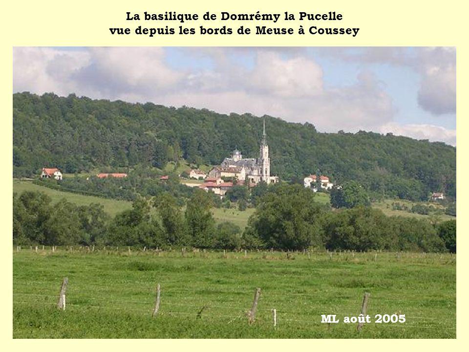 La basilique de Domrémy la Pucelle vue depuis les bords de Meuse à Coussey