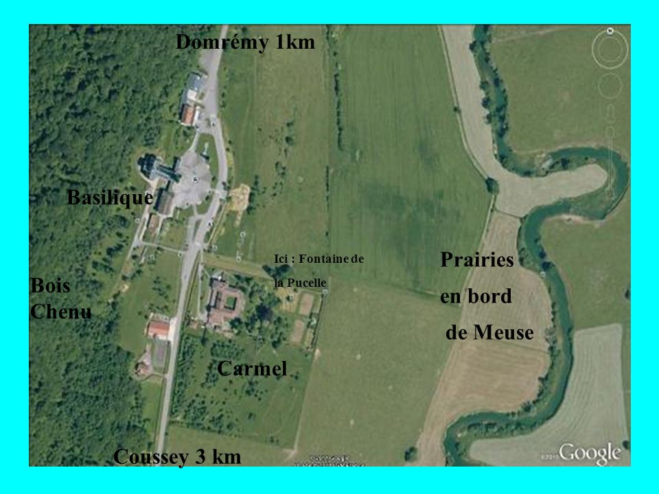 Domrémy 1km Basilique Prairies en bord Bois Chenu de Meuse Carmel