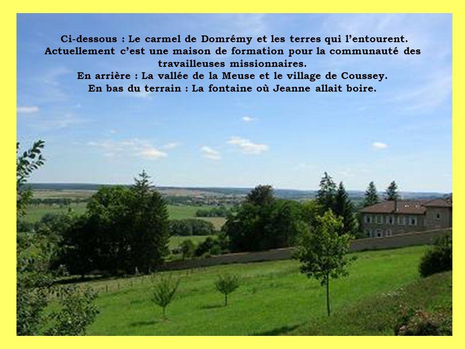 Ci-dessous : Le carmel de Domrémy et les terres qui l'entourent