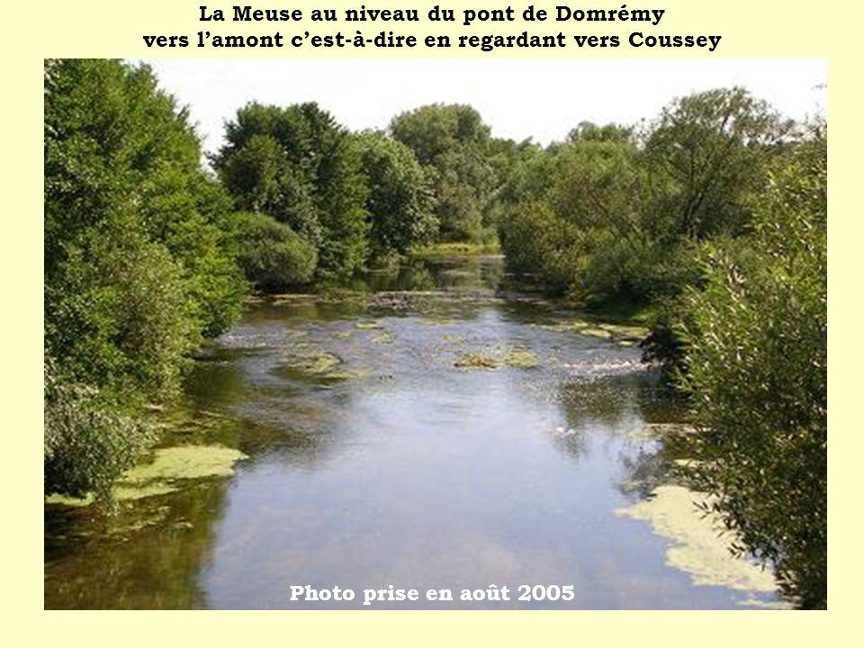 La Meuse au niveau du pont de Domrémy vers l'amont c'est-à-dire en regardant vers Coussey