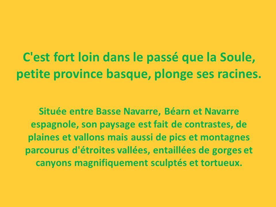 C est fort loin dans le passé que la Soule, petite province basque, plonge ses racines.