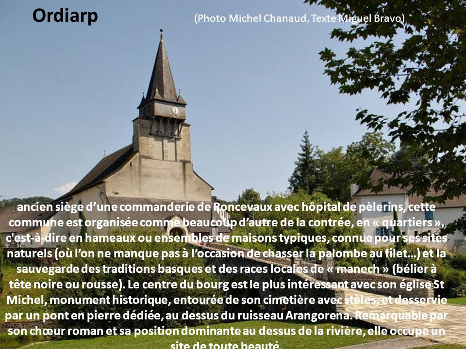 Ordiarp (Photo Michel Chanaud, Texte Miguel Bravo)