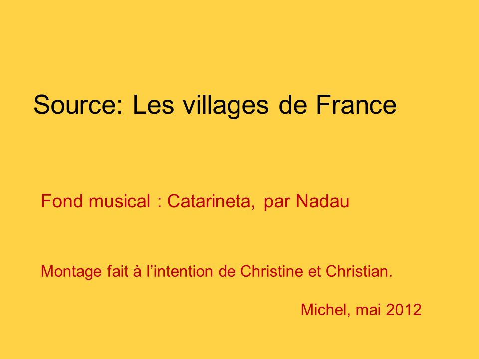 Source: Les villages de France