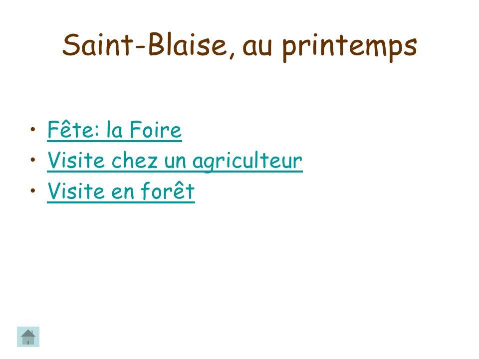 Saint-Blaise, au printemps