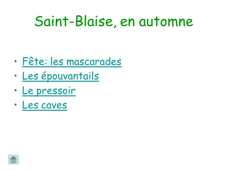 Saint-Blaise, en automne