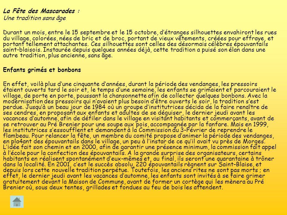 La Fête des Mascarades :