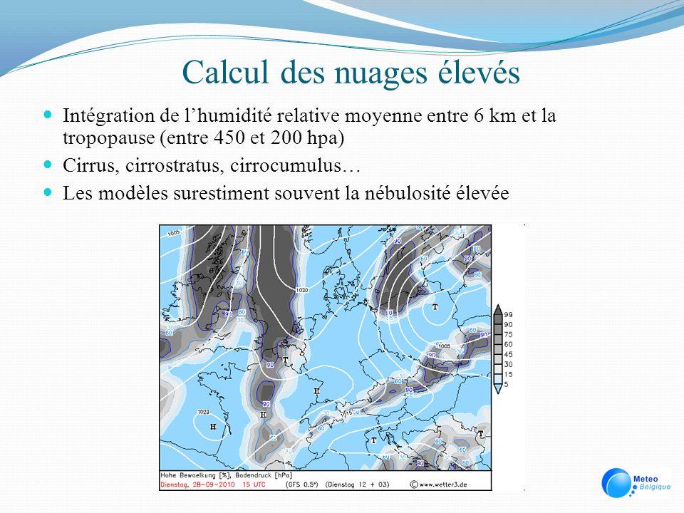 Calcul des nuages élevés