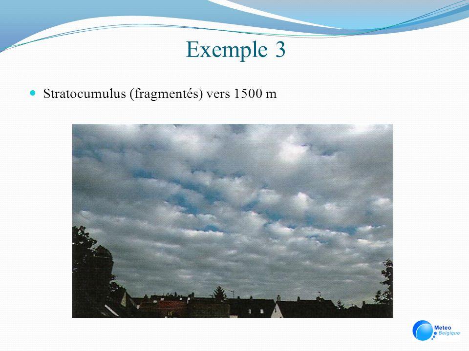 Exemple 3 Stratocumulus (fragmentés) vers 1500 m