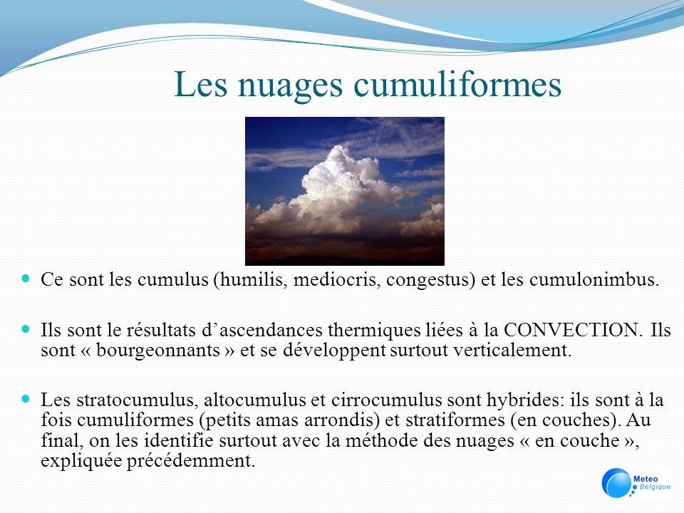 Les nuages cumuliformes