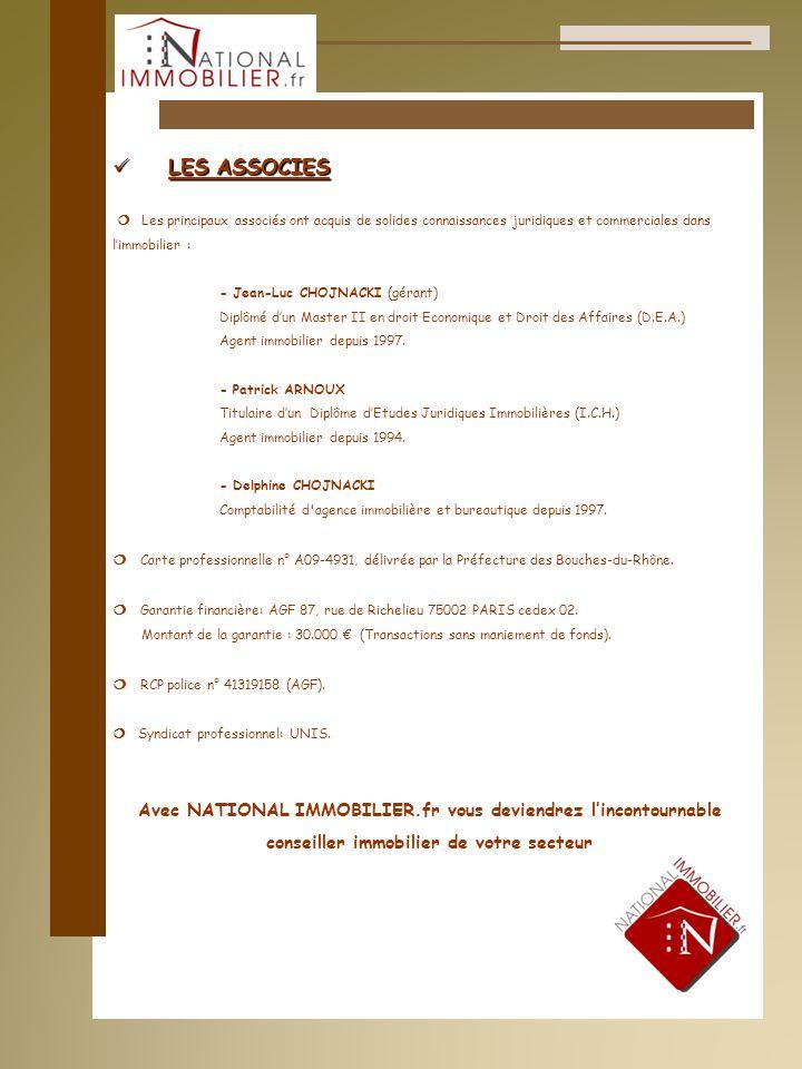 LES ASSOCIES ¦ Les principaux associés ont acquis de solides connaissances juridiques et commerciales dans.
