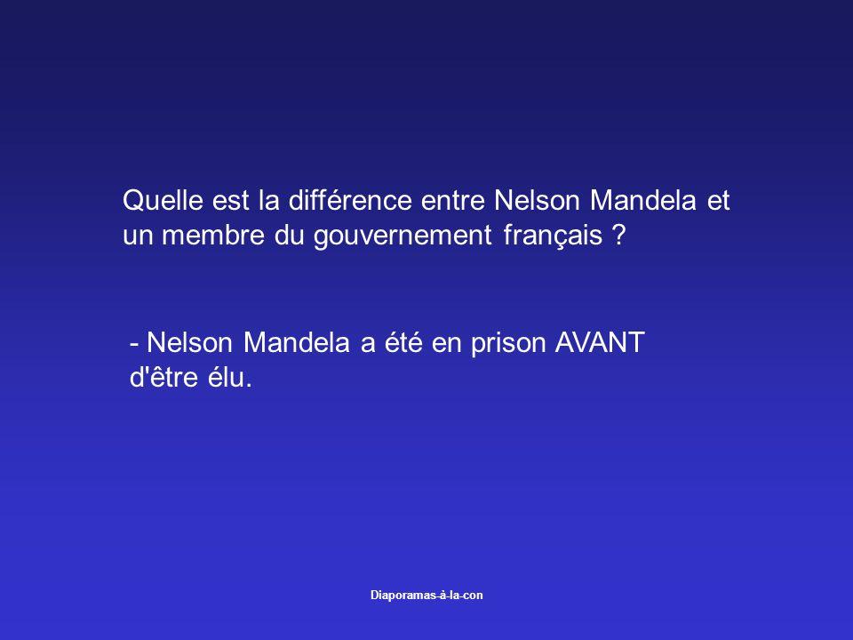 - Nelson Mandela a été en prison AVANT d être élu.