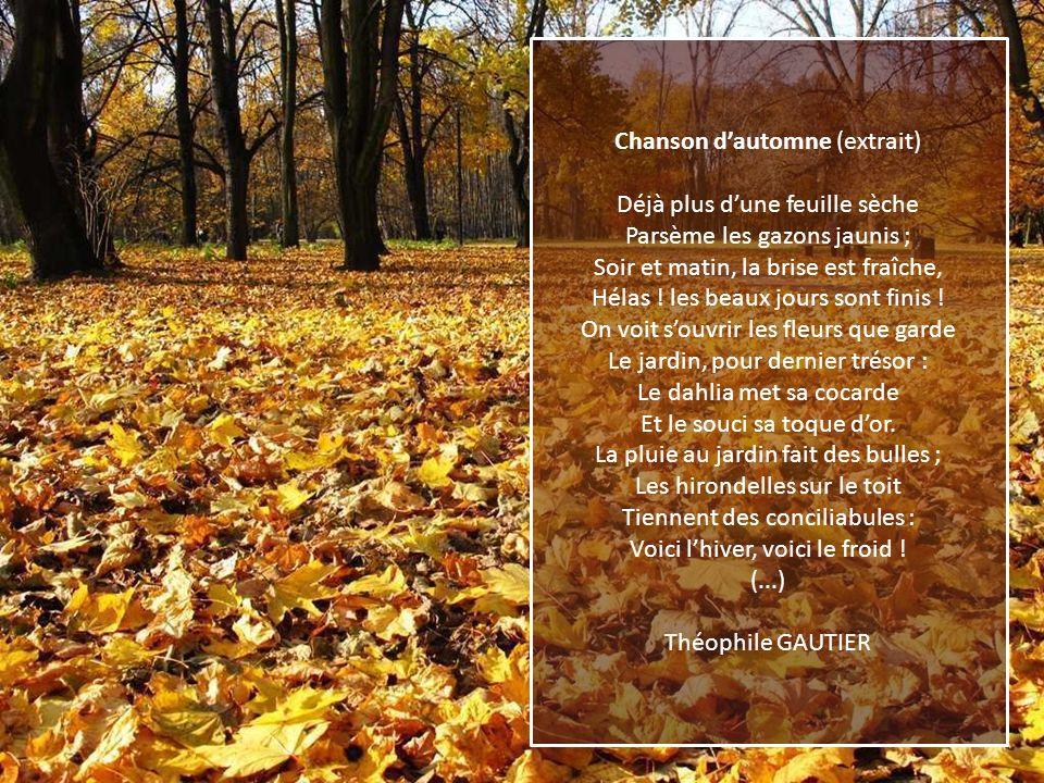 Chanson d'automne (extrait)
