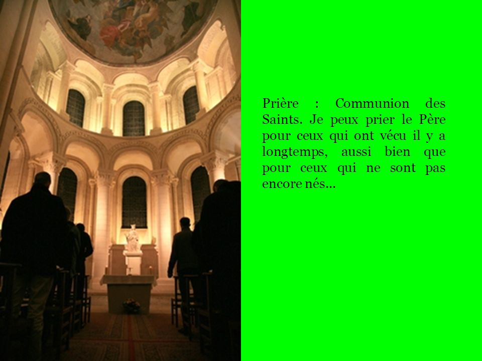 Prière : Communion des Saints