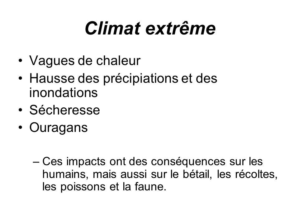 Climat extrême Vagues de chaleur