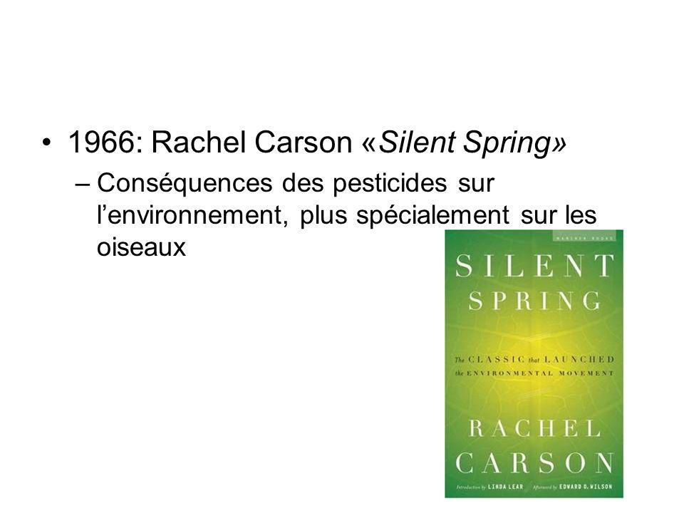 1966: Rachel Carson «Silent Spring»