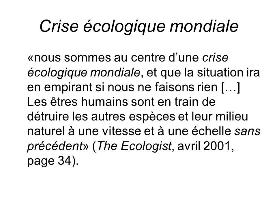 Crise écologique mondiale