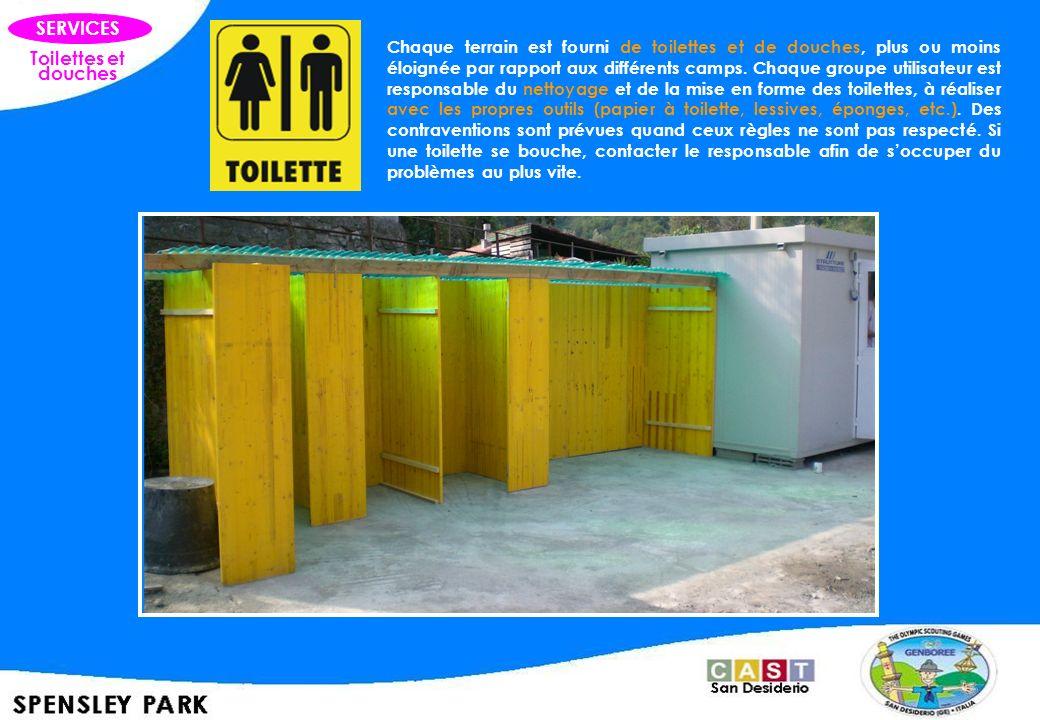 SERVICES Toilettes et douches