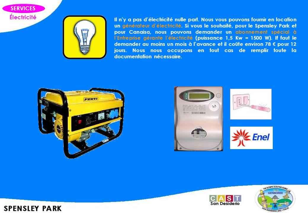 SERVICES Électricité.