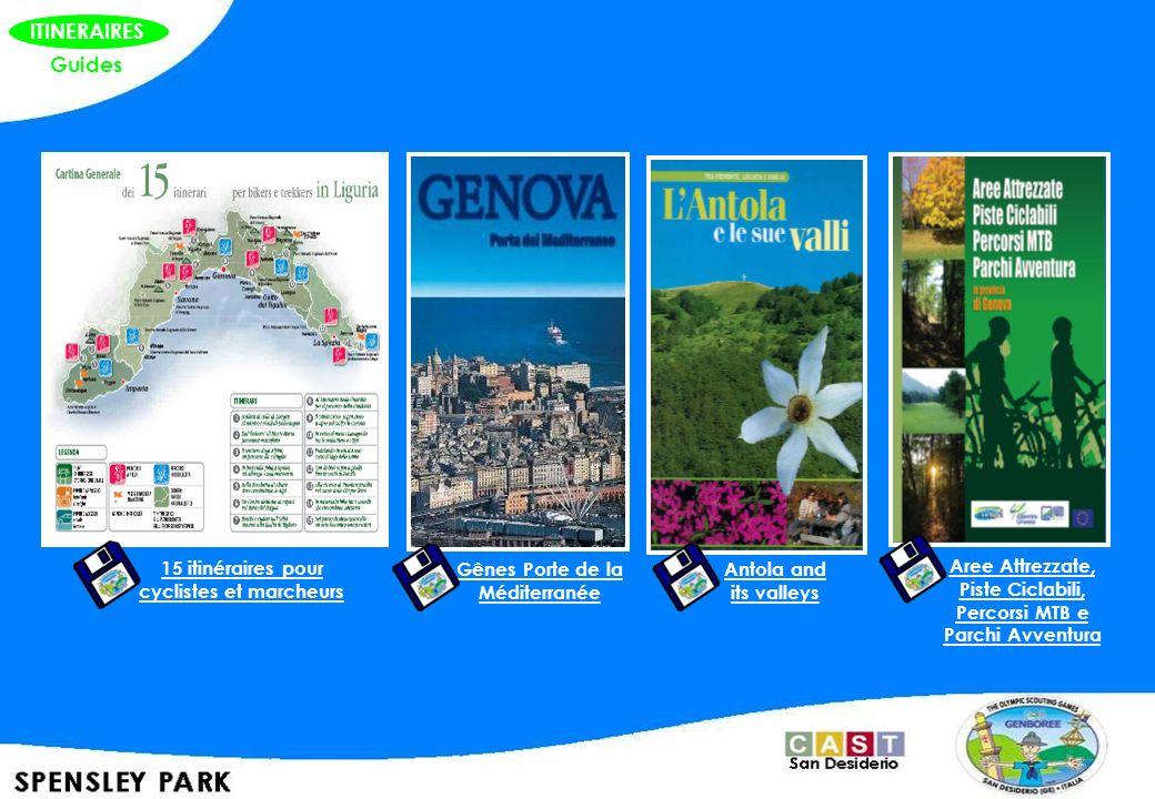 ITINERAIRES Guides 15 itinéraires pour cyclistes et marcheurs