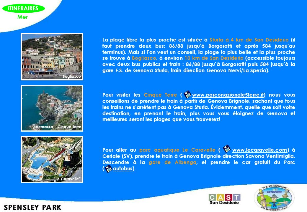 ITINERAIRES Mer.