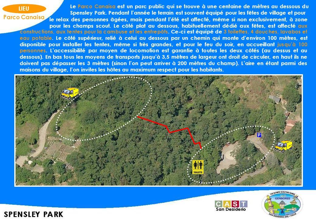 Le Parco Canaisa est un parc public qui se trouve à une centaine de mètres au dessous du Spensley Park. Pendant l'année le terrain est souvent équipé pour les fêtes de village et pour