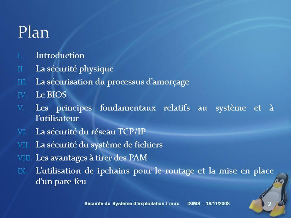 Plan Introduction La sécurité physique
