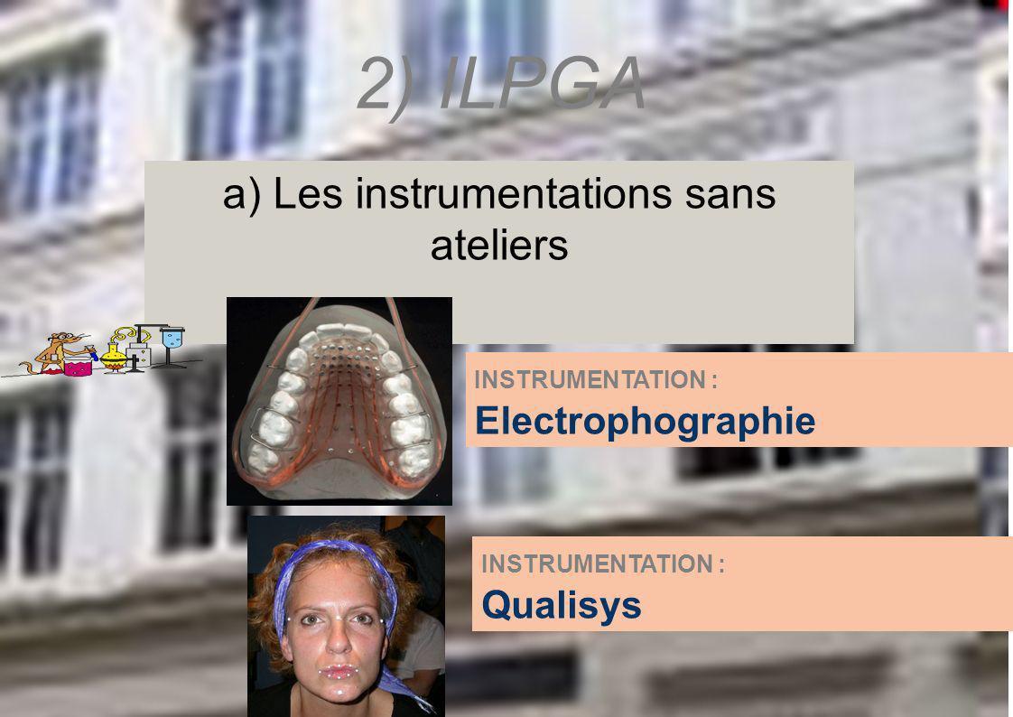 a) Les instrumentations sans ateliers