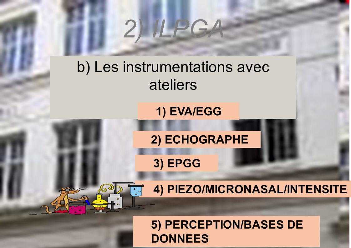 b) Les instrumentations avec ateliers