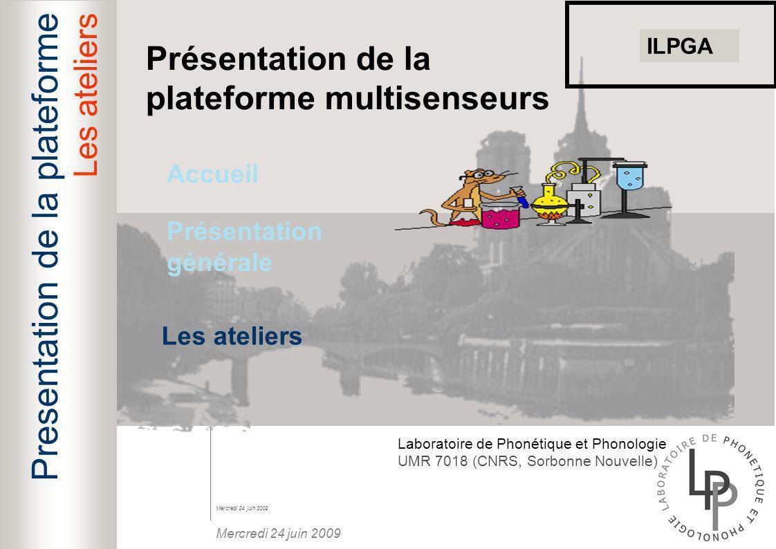 Presentation de la plateforme