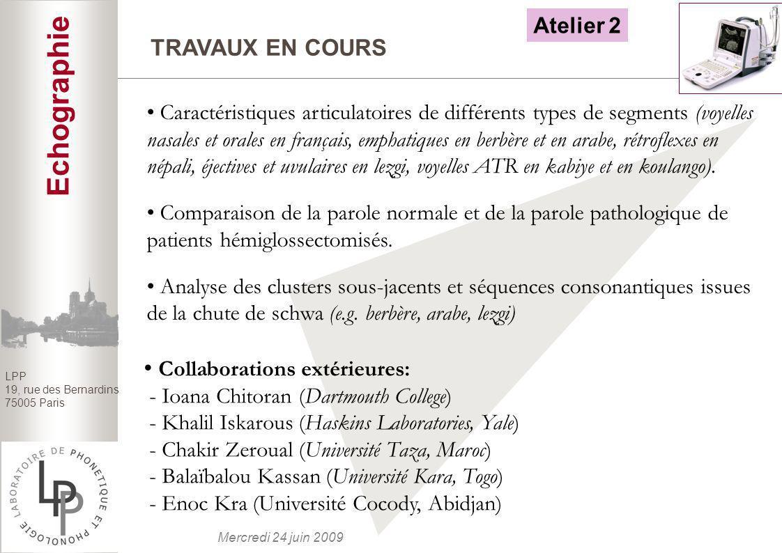 Atelier 2TRAVAUX EN COURS.
